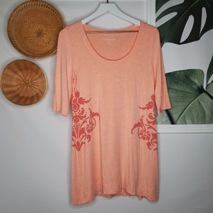Soft Surroundings Scoop Neck Boho Tunic Dress